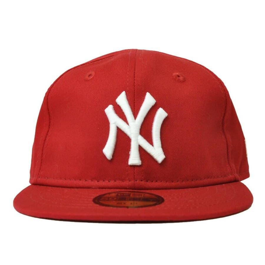 NEW ERA ニューエラ キッズ Kid's My 1st 59FIFTY ニューヨーク・ヤンキース スカーレット ×スノーホワイト [11225743] newera キャップ レディース メンズ CAP 帽子 NEWERA 2