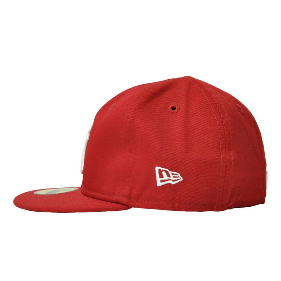 NEW ERA ニューエラ キッズ Kid's My 1st 59FIFTY ニューヨーク・ヤンキース スカーレット ×スノーホワイト [11225743] newera キャップ レディース メンズ CAP 帽子 NEWERA 3
