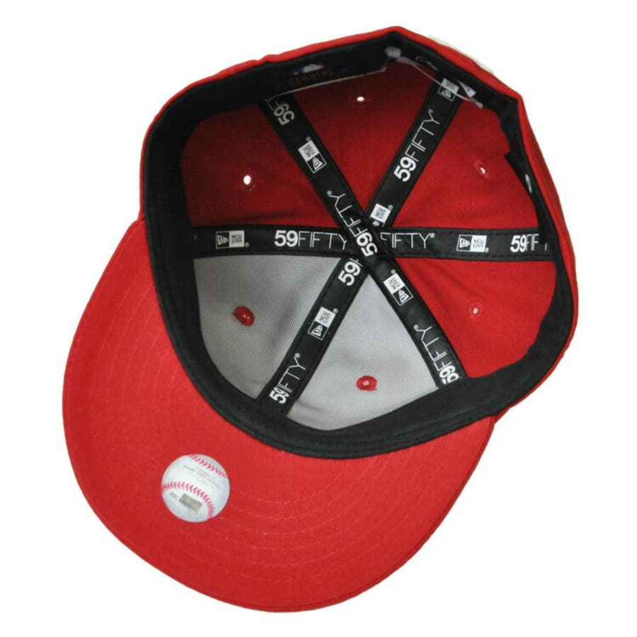 NEW ERA ニューエラ キッズ Kid's My 1st 59FIFTY ニューヨーク・ヤンキース スカーレット ×スノーホワイト [11225743] newera キャップ レディース メンズ CAP 帽子 NEWERA 5