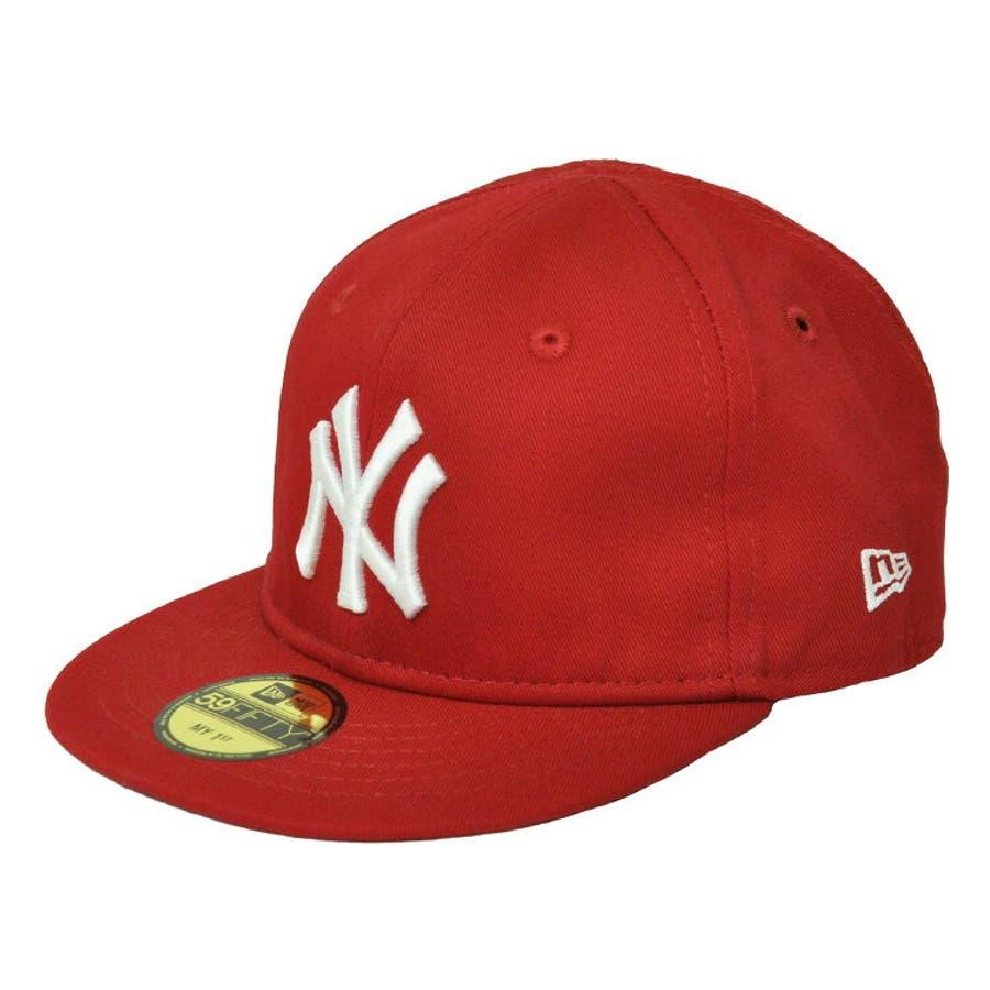 NEW ERA ニューエラ キッズ Kid's My 1st 59FIFTY ニューヨーク・ヤンキース スカーレット ×スノーホワイト [11225743] newera キャップ レディース メンズ CAP 帽子 NEWERA 108