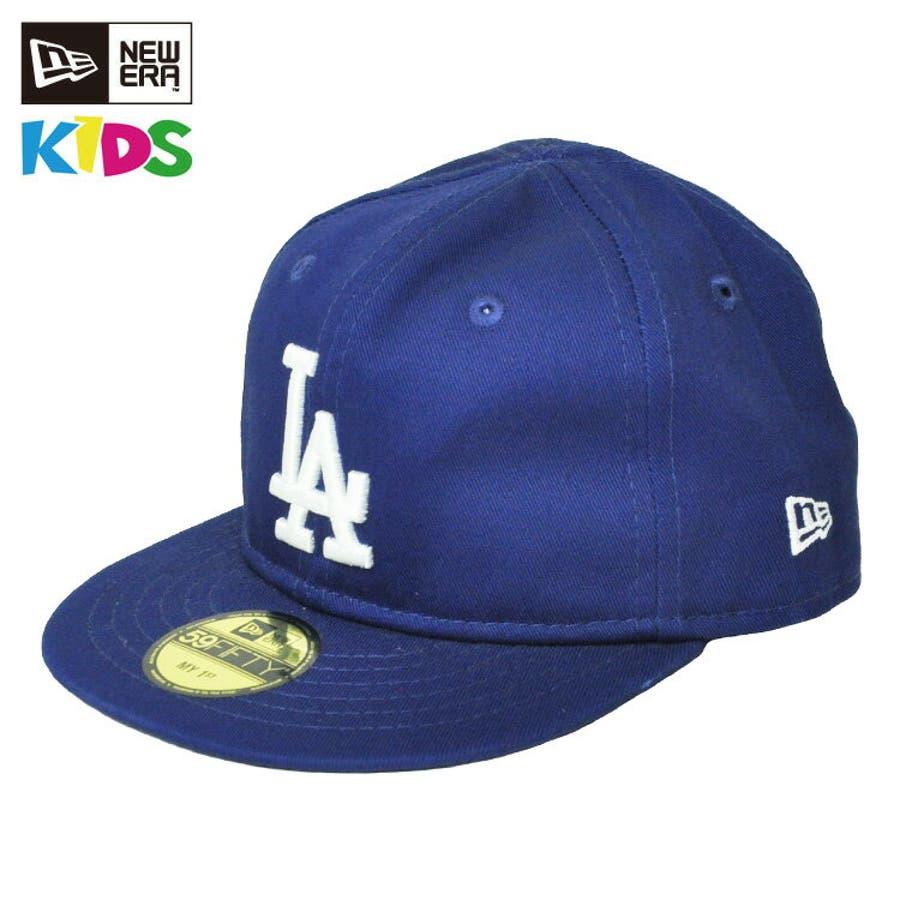 NEW ERA ニューエラ キッズ Kid's My 1st 59FIFTY ロサンゼルス・ドジャース ダークロイヤル × ホワイト[11225745] newera キャップ レディース メンズ CAP 帽子 NEWERA 1