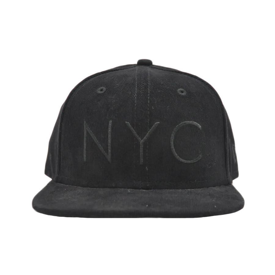 ニューエラ キャップ レディース メンズ CAP ◆ NEW ERA Kid's Youth 59FIFTY コーデュロイ NYCブラック × ブラック 11322260 キッズ 帽子 ロゴ 刺繍 NEWERA 2