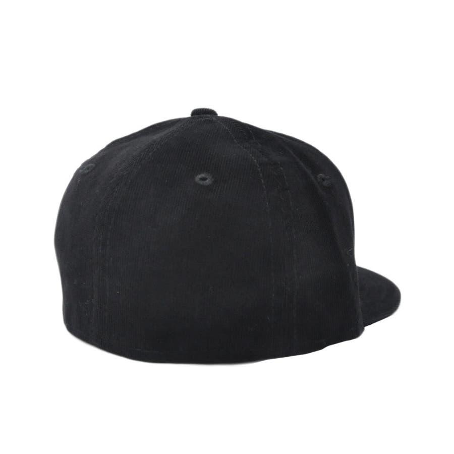 ニューエラ キャップ レディース メンズ CAP ◆ NEW ERA Kid's Youth 59FIFTY コーデュロイ NYCブラック × ブラック 11322260 キッズ 帽子 ロゴ 刺繍 NEWERA 3