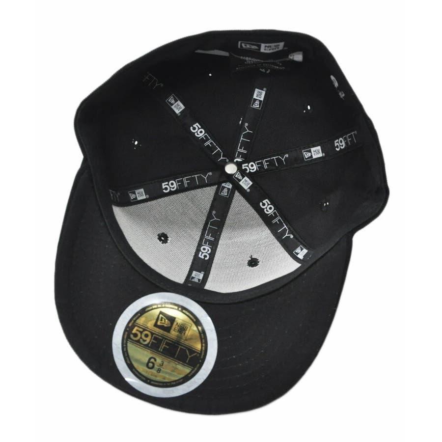 ニューエラ キャップ レディース メンズ CAP ◆ NEW ERA Kid's Youth 59FIFTY コーデュロイ NYCブラック × ブラック 11322260 キッズ 帽子 ロゴ 刺繍 NEWERA 4