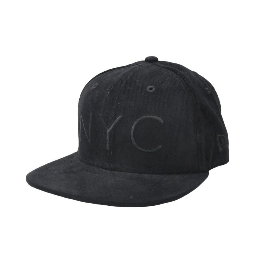 ニューエラ キャップ レディース メンズ CAP ◆ NEW ERA Kid's Youth 59FIFTY コーデュロイ NYCブラック × ブラック 11322260 キッズ 帽子 ロゴ 刺繍 NEWERA 108