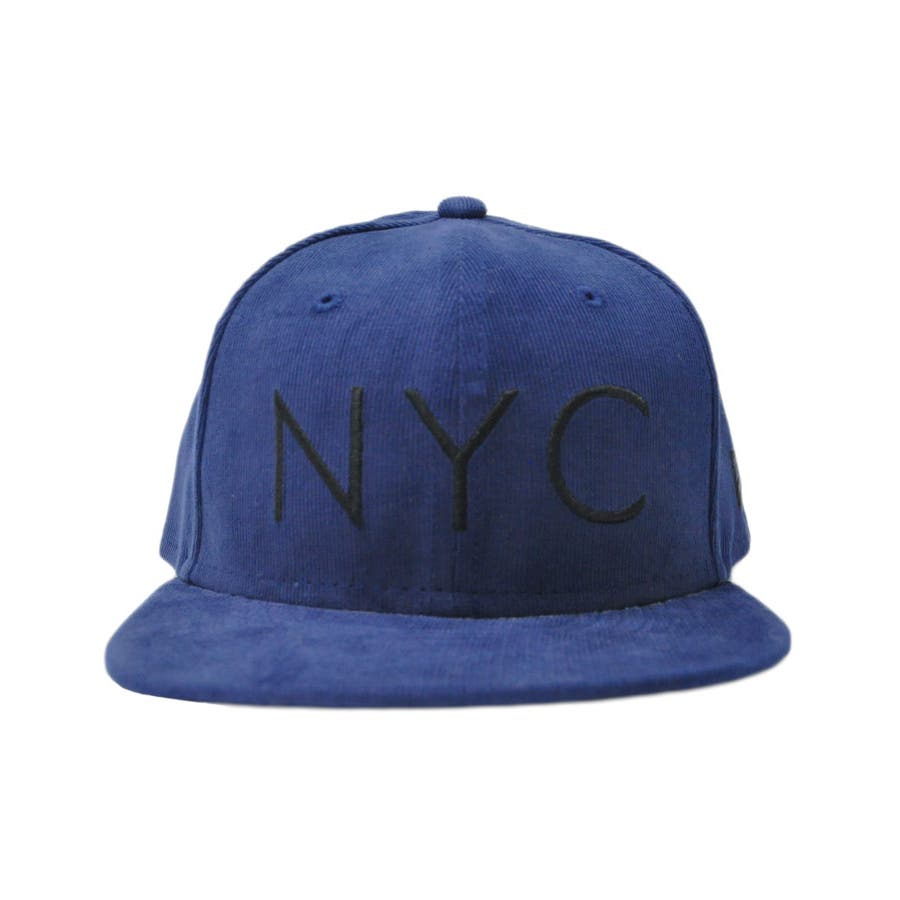 ニューエラ キャップ レディース メンズ CAP ◆ NEW ERA Kid's Youth 59FIFTY コーデュロイ NYCネイビー × ブラック 11322259 キッズ 帽子 ロゴ 刺繍 NEWERA 2