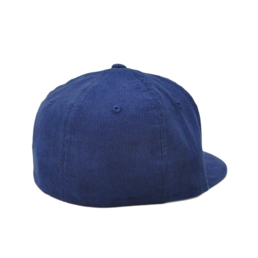 ニューエラ キャップ レディース メンズ CAP ◆ NEW ERA Kid's Youth 59FIFTY コーデュロイ NYCネイビー × ブラック 11322259 キッズ 帽子 ロゴ 刺繍 NEWERA 3