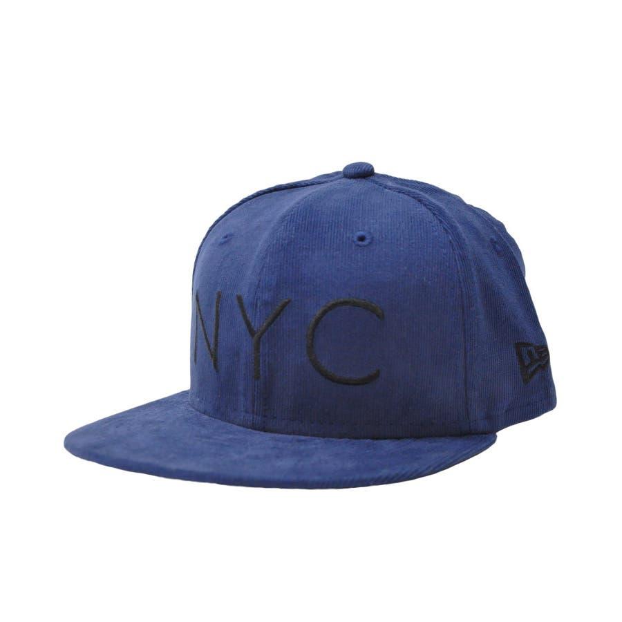 ニューエラ キャップ レディース メンズ CAP ◆ NEW ERA Kid's Youth 59FIFTY コーデュロイ NYCネイビー × ブラック 11322259 キッズ 帽子 ロゴ 刺繍 NEWERA 108