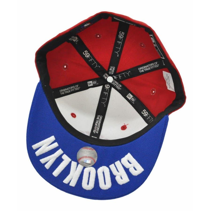 ニューエラ キッズ キャップ レディース メンズ CAP ◆ NEW ERA Kid's Youth 59FIFTY ヤンキースBROOKLYN アンダーバイザー トリコロール N0006324 帽子 ロゴ 刺繍 NEWERA 3