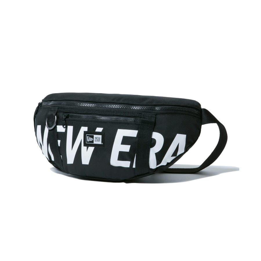 ニューエラ バッグ ◆ ウェストバッグ プリントロゴ ブラック × ホワイト 11901462 メンズ BAG カバン BAGウエスト旅行 通勤 通学 おしゃれ NEWERA 22