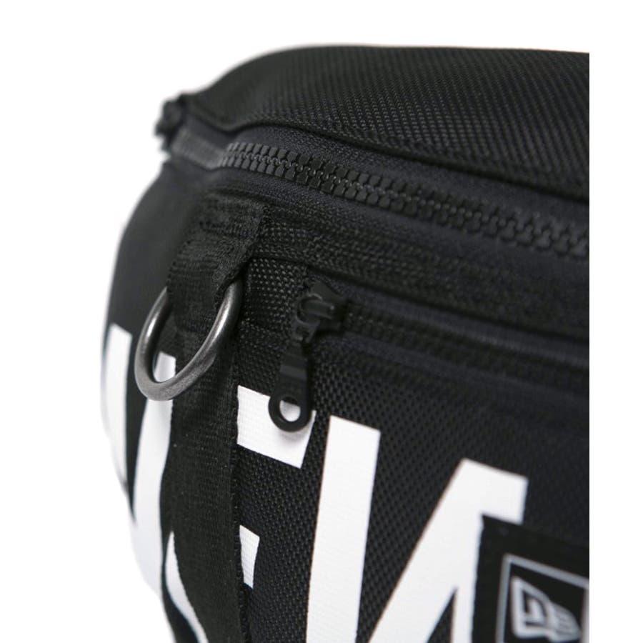ニューエラ バッグ ◆ ウェストバッグ プリントロゴ ブラック × ホワイト 11901462 メンズ BAG カバン BAGウエスト旅行 通勤 通学 おしゃれ NEWERA 2