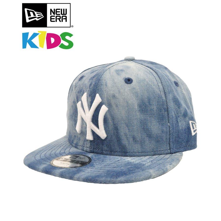 7f3238b2e4c2b ニューエラ キッズ キャップ ◇ NEW ERA Kid's Youth 9FIFTY タイダイデニム MLBニューヨーク・ヤンキース インディゴデニム  12082856 ...