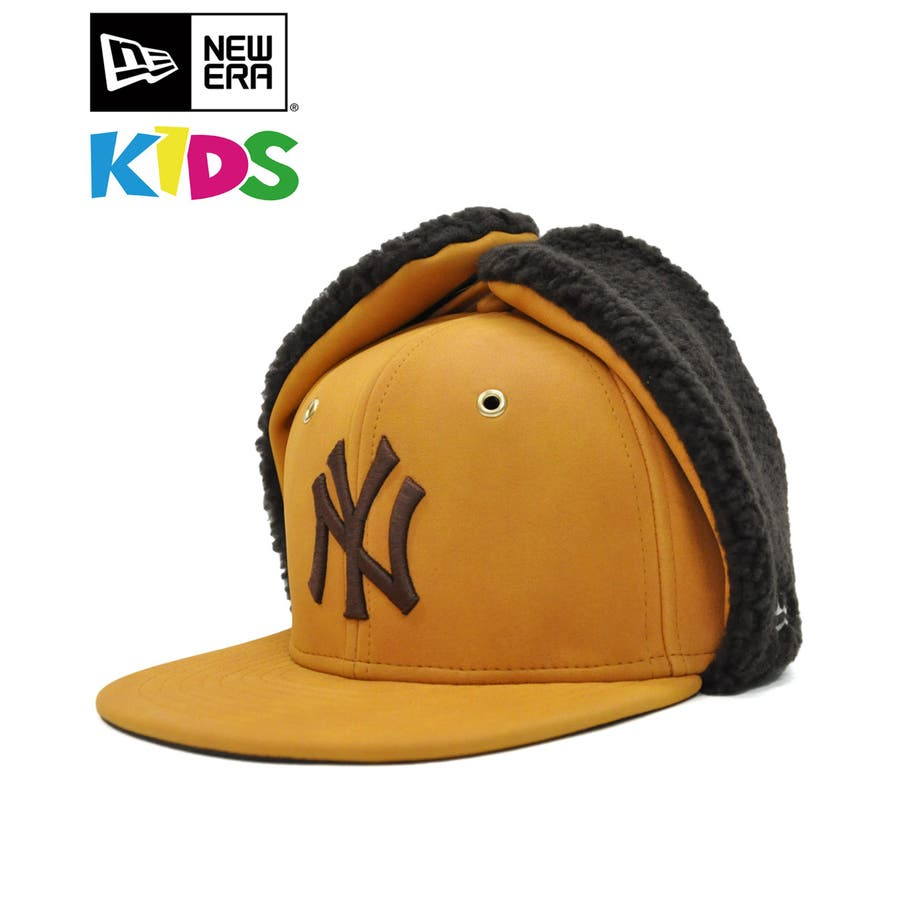 Kid's 59FIFTY Dog Ear シンセティック ヌバック ニューヨーク・ヤンキース / イエローヌバック × ブラウン[12108594] 1