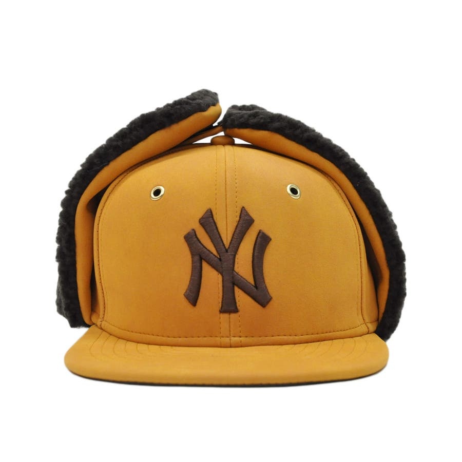 Kid's 59FIFTY Dog Ear シンセティック ヌバック ニューヨーク・ヤンキース / イエローヌバック × ブラウン[12108594] 2