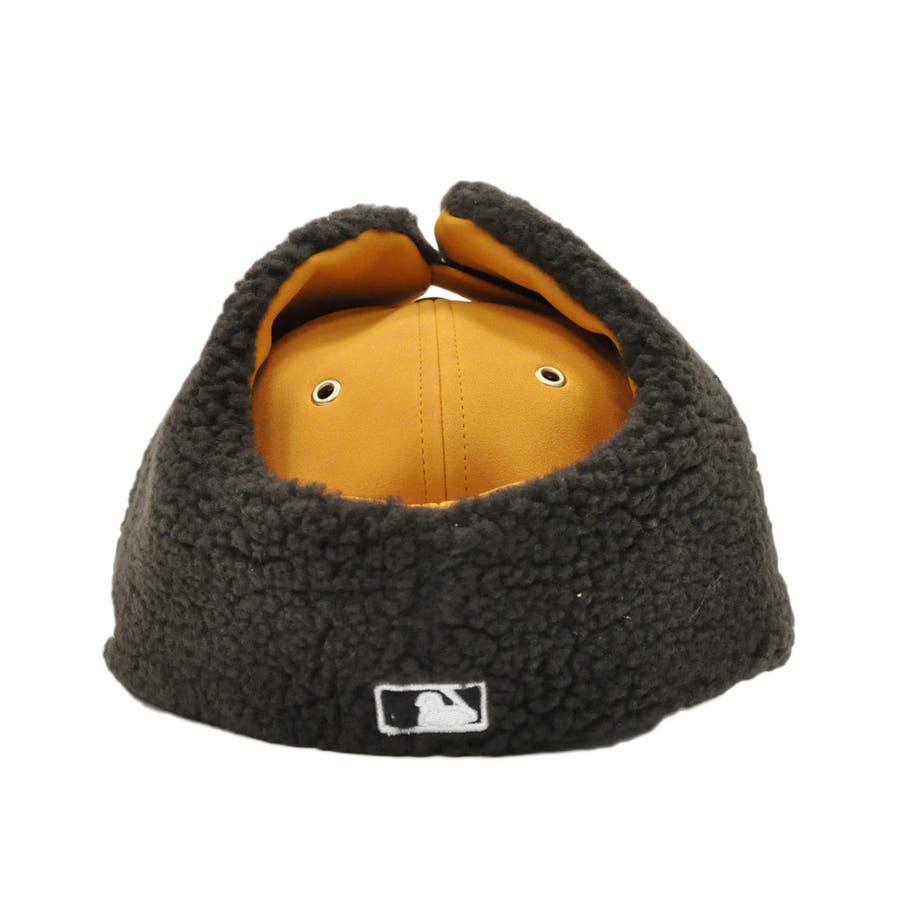 Kid's 59FIFTY Dog Ear シンセティック ヌバック ニューヨーク・ヤンキース / イエローヌバック × ブラウン[12108594] 4