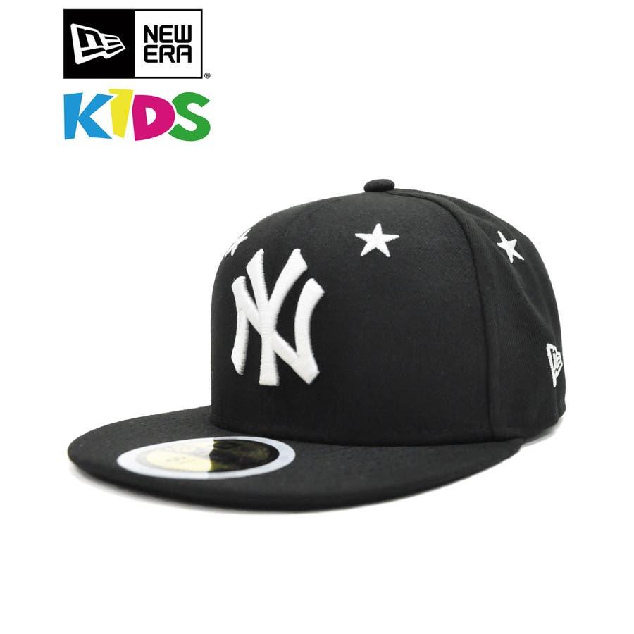 Kid's 59FIFTY Star Eyelets ニューヨーク・ヤンキース / ブラック × ホワイト [12362196] 1