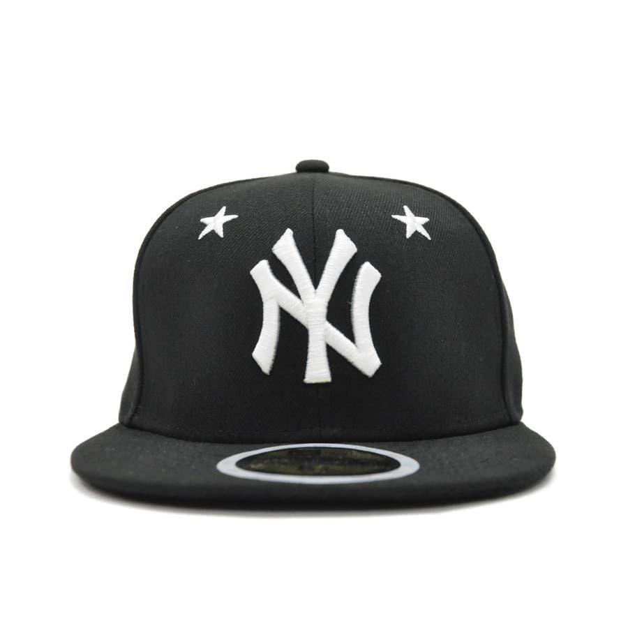 Kid's 59FIFTY Star Eyelets ニューヨーク・ヤンキース / ブラック × ホワイト [12362196] 2