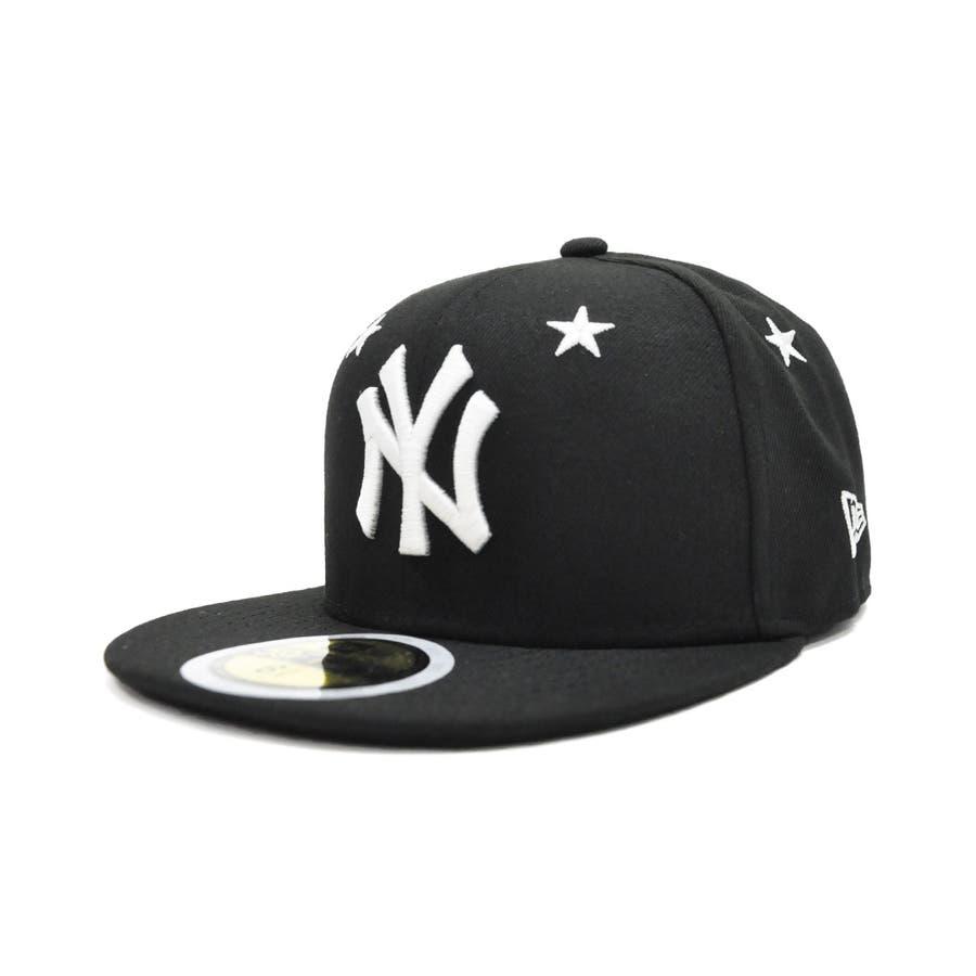 Kid's 59FIFTY Star Eyelets ニューヨーク・ヤンキース / ブラック × ホワイト [12362196] 22