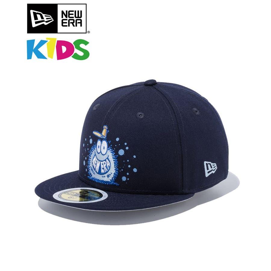 Kid's 59FIFTY Kevin Lyons ケヴィン・ライオンズ NEW ERA オリジナルロゴ / ネイビー[12362091] ニューエラ キャップ メンズ レディース CAP 男の子 女の子 1