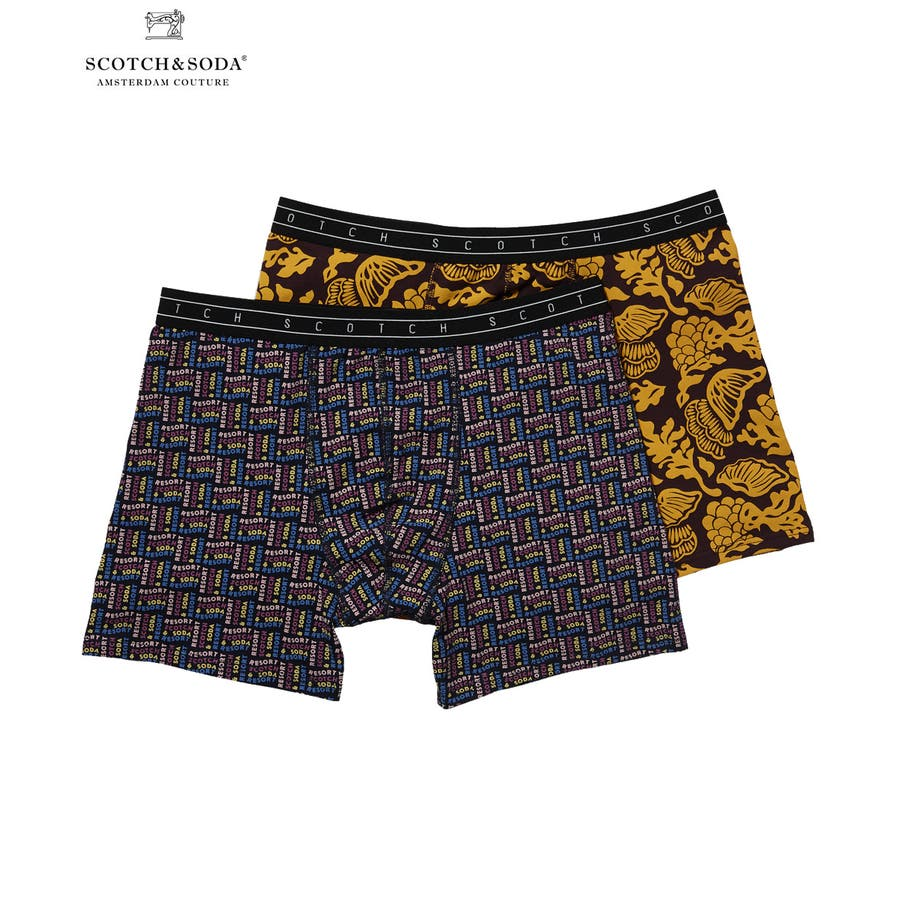 2-Pack Patterned Boxer Shorts (2ペア1セット) / D [292-19902] 1