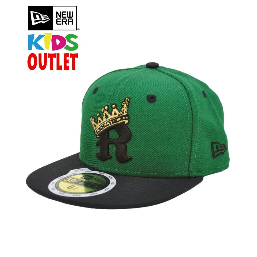 [OUTLET] Kid's Youth 59FIFTY R-CROWN / ケリー × ブラック [11172343] 1