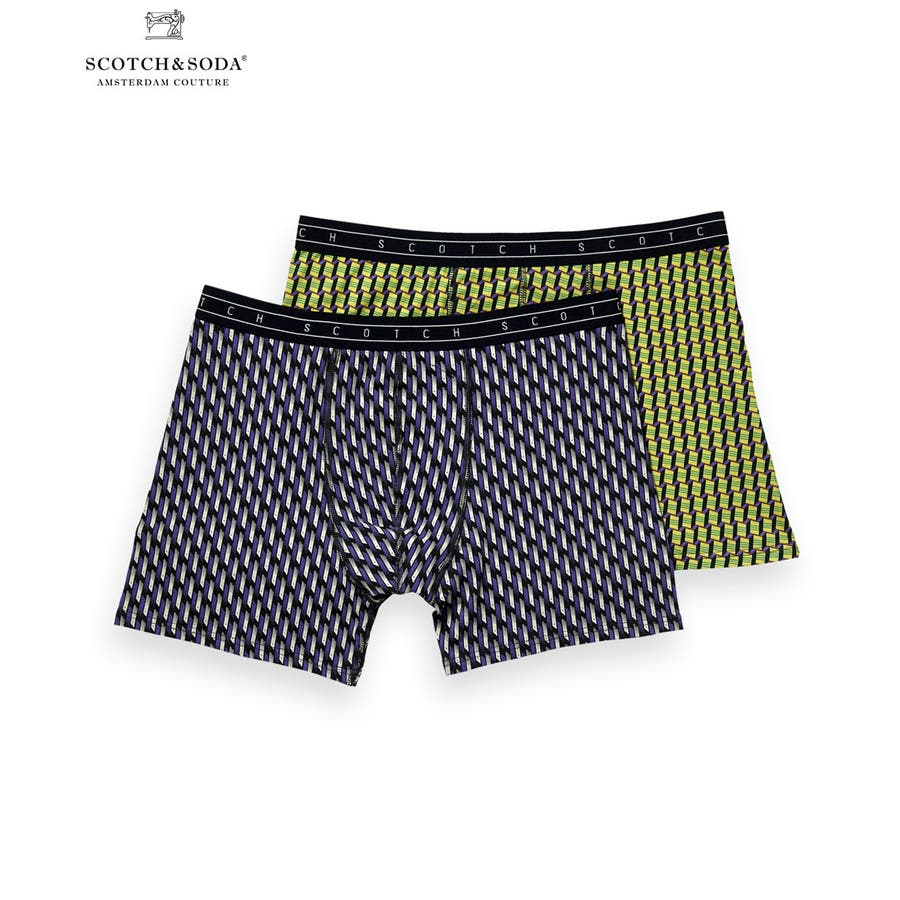 2-Pack Patterned Boxer Shorts (2ペア1セット) / コンボB [292-19900-I] 1