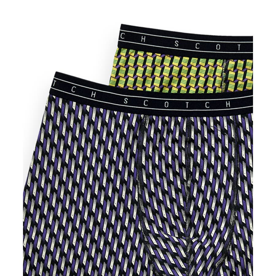2-Pack Patterned Boxer Shorts (2ペア1セット) / コンボB [292-19900-I] 2