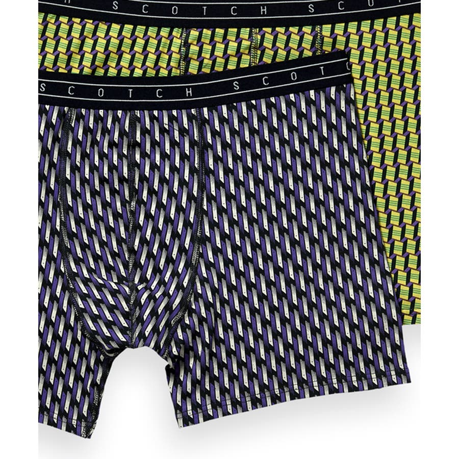 2-Pack Patterned Boxer Shorts (2ペア1セット) / コンボB [292-19900-I] 3