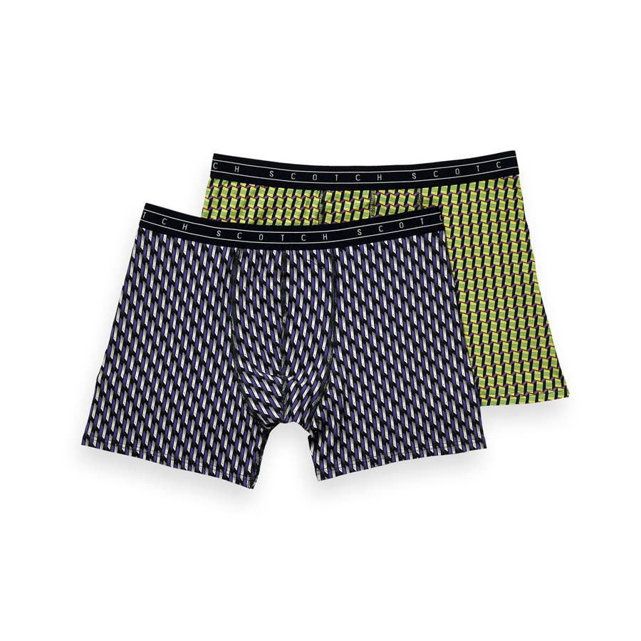 2-Pack Patterned Boxer Shorts (2ペア1セット) / コンボB [292-19900-I] 108
