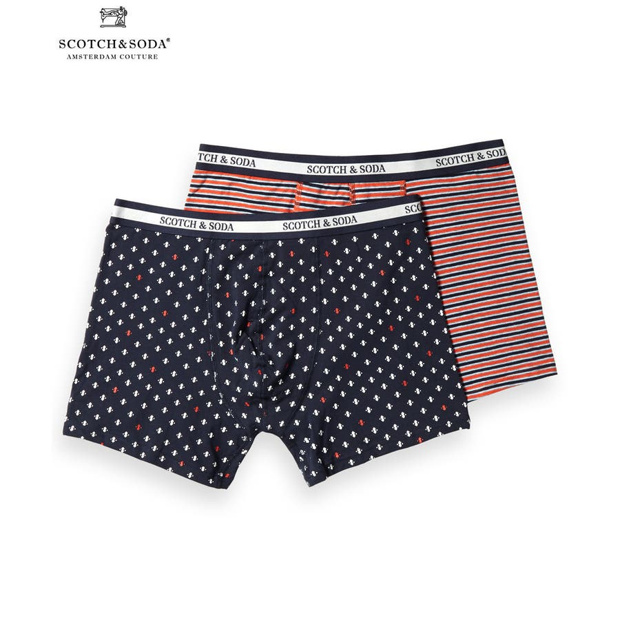 2-Pack Patterned Boxer Shorts (2ペア1セット) / コンボ [292-19904-I] 1