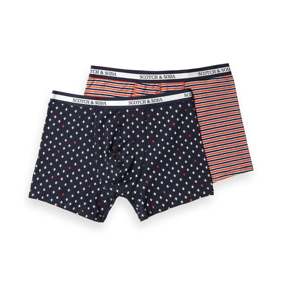 2-Pack Patterned Boxer Shorts (2ペア1セット) / コンボ [292-19904-I] 108