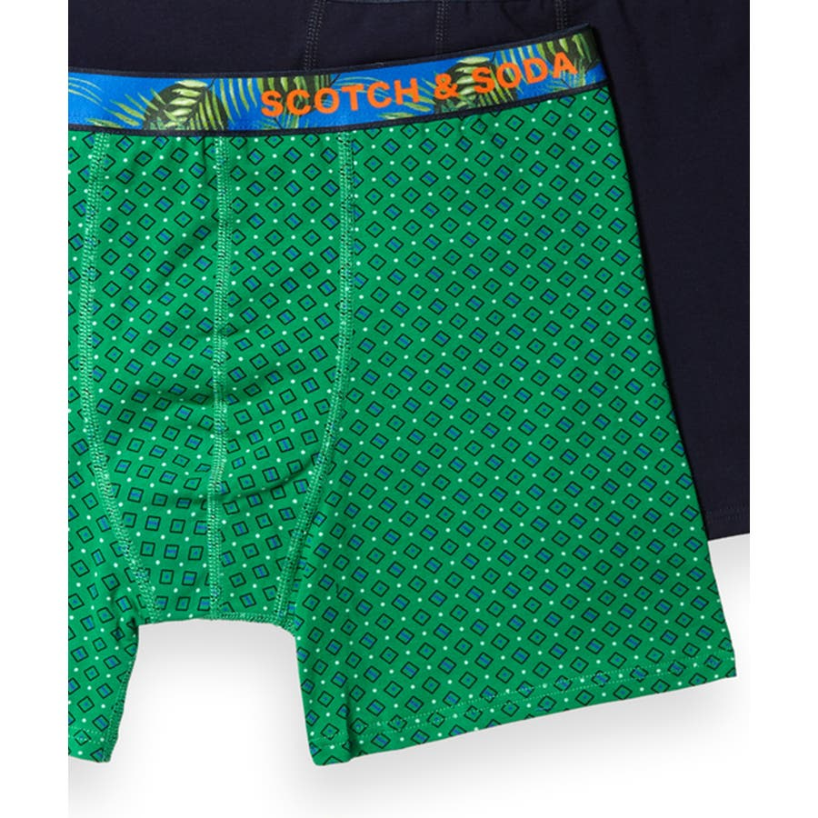 2-Pack Patterned Boxer Shorts (2ペア1セット) / コンボB [292-19909-I] 3