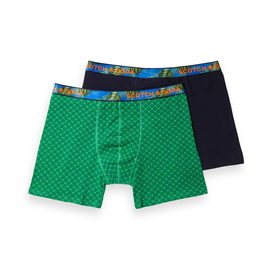 2-Pack Patterned Boxer Shorts (2ペア1セット) / コンボB [292-19909-I] 108