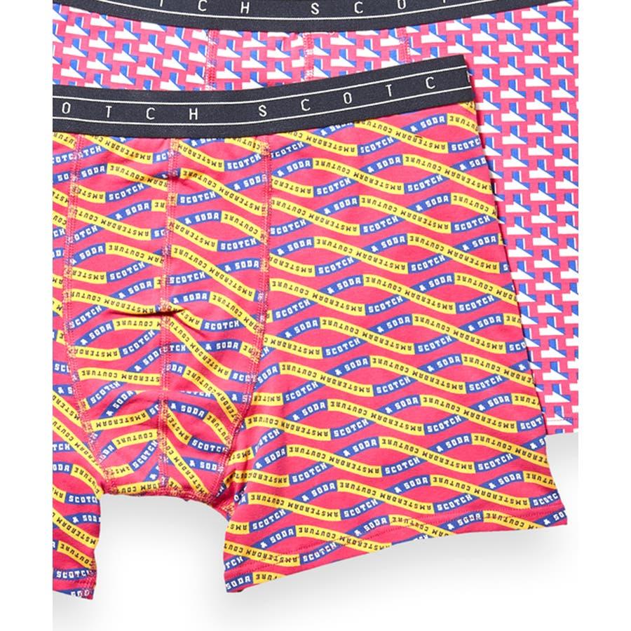 2-Pack Patterned Boxer Shorts (2ペア1セット) / コンボA [292-19900-I] 3