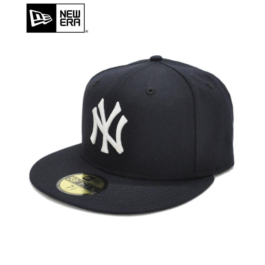 59FIFTY オールド オーセンティック カスタム ニューヨーク・ヤンキース / ネイビー × ホワイト [11389640] 1