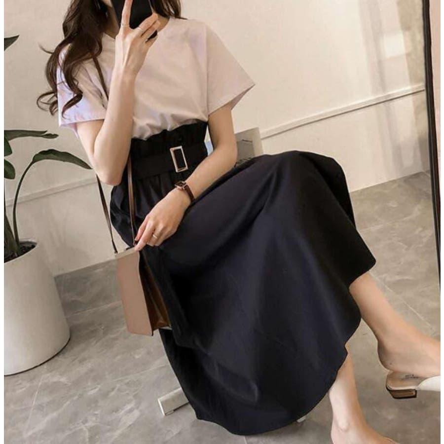 Tシャツ+トレンチスカートセットアップ 21