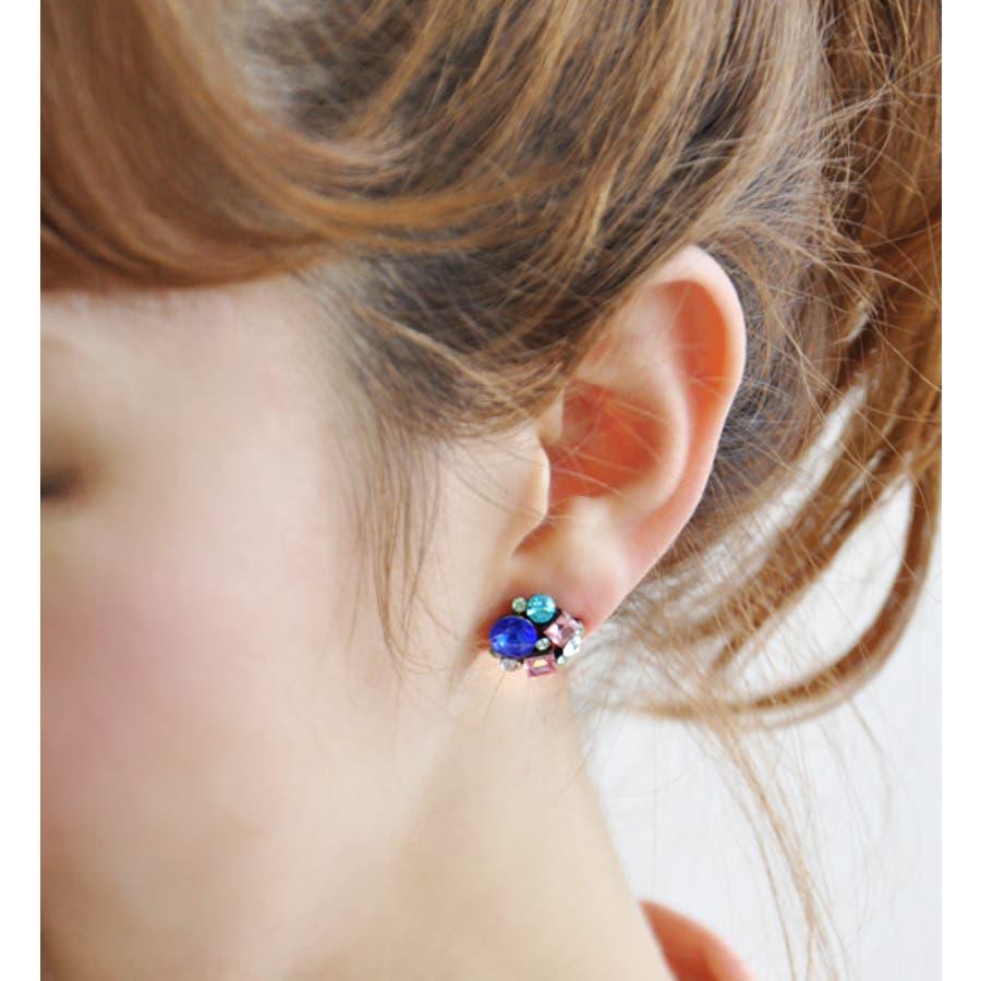 プチゴージャスに耳元を輝かせる、大粒&小粒、カラーや形が