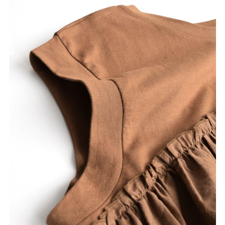 Hunch(ハンチ):コットン天竺 ティアード刺繍レース ノースリーブプルオーバー 7