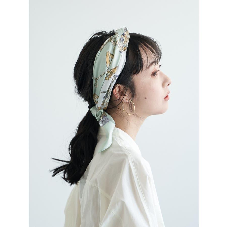 タッセルチェーン柄スカーフ 4