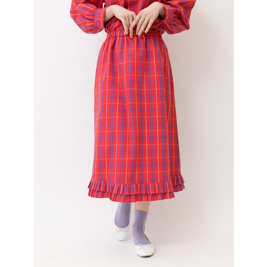 プリーツヘムAラインスカート 1