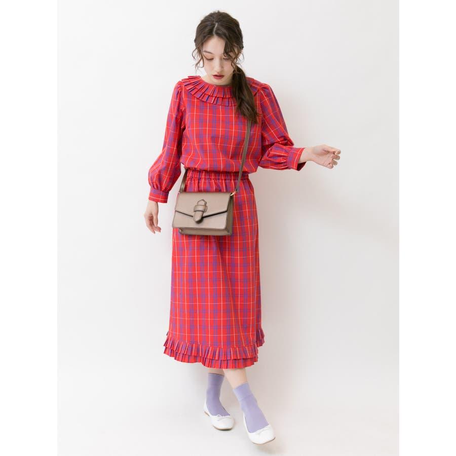 プリーツヘムAラインスカート 2