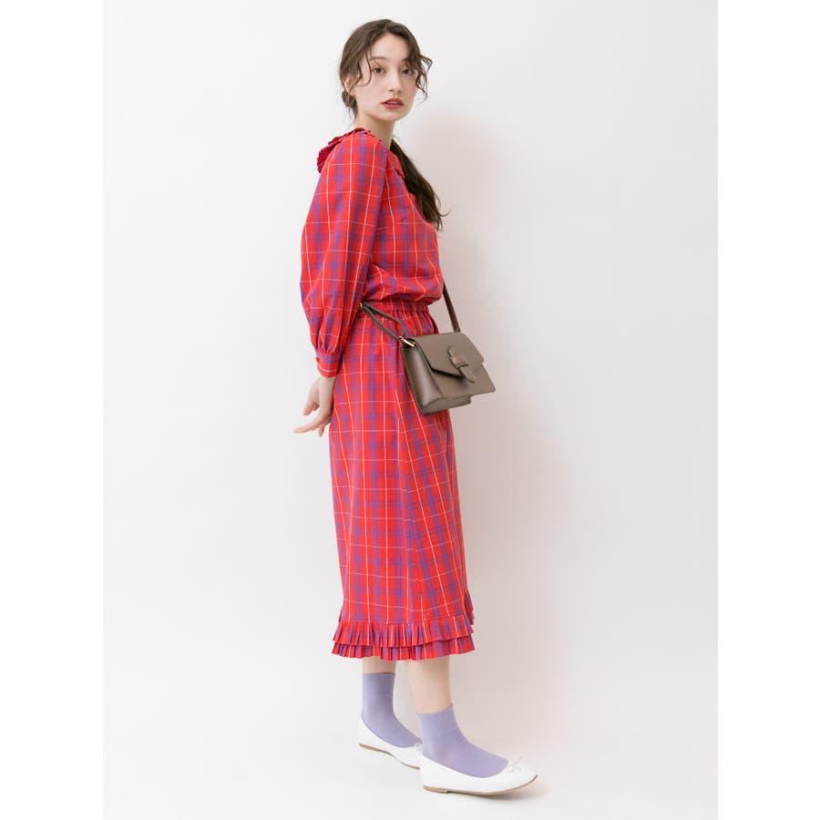 プリーツヘムAラインスカート 3