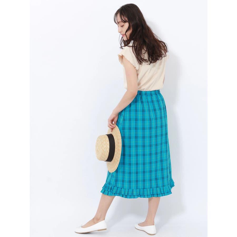プリーツヘムAラインスカート 4