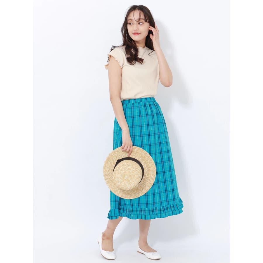プリーツヘムAラインスカート 5
