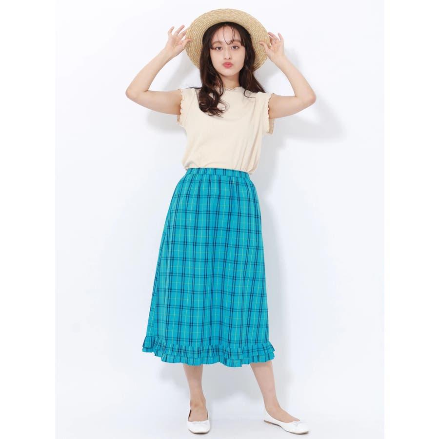 プリーツヘムAラインスカート 6