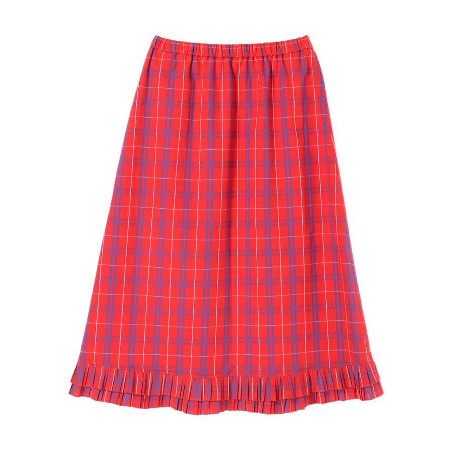 プリーツヘムAラインスカート 7