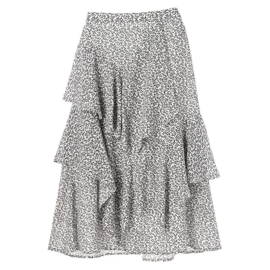 ・K 単色花柄変形ティアードスカート 17