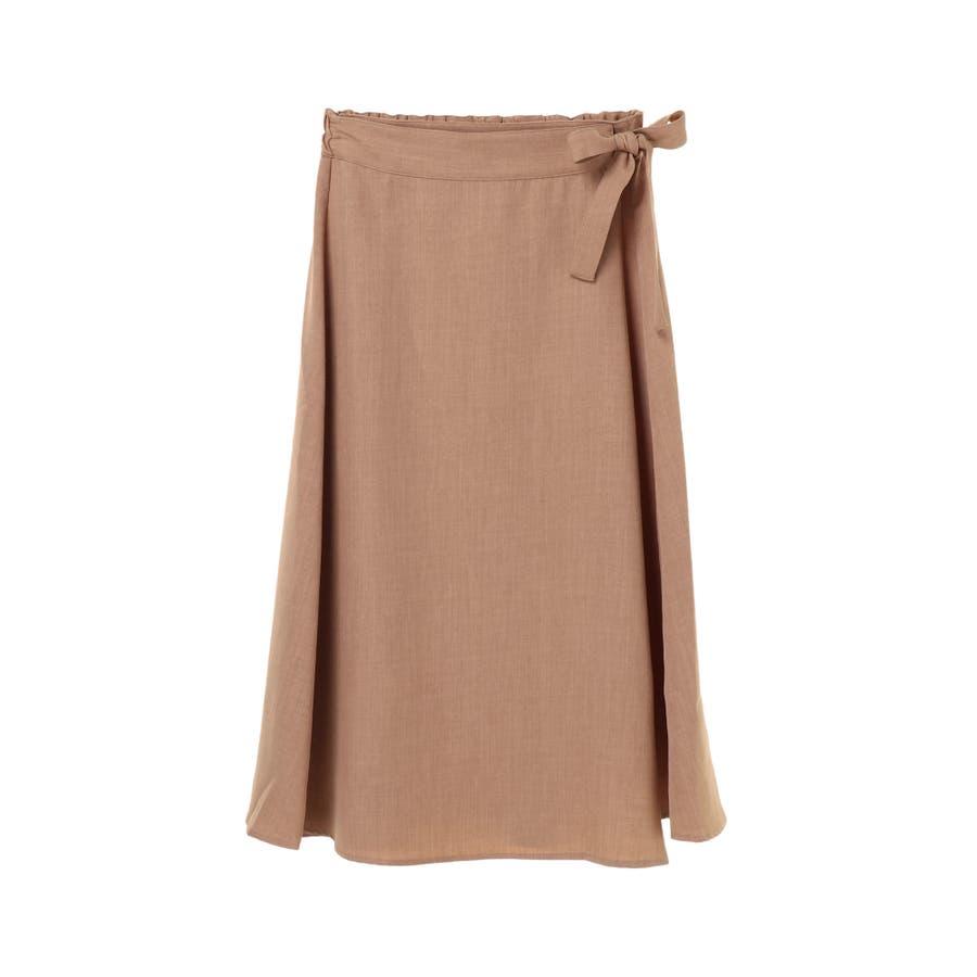 リネン風ラップスカート 41