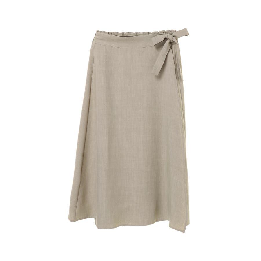 リネン風ラップスカート 50