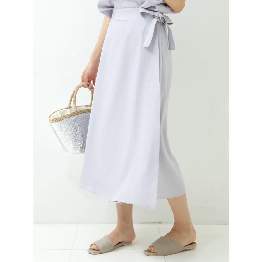 リネン風ラップスカート 2